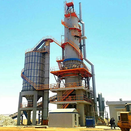 100TPD Shaft kiln For Quicklime Plant in North Sudan